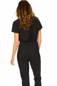 D-ETOILES CASIOPE |  Travelwear T-shirt with v-neck Alizée | black  | Picture 6