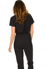 D-ETOILES CASIOPE | Travelwear T-shirt met v-hals Alizée | zwart   | Afbeelding 6