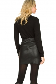 Fracomina |  Turtleneck sweater with ruffles Pull | black  | Picture 6