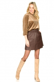 Second Female | Sweater with lurex Nancy | brown  | Picture 3