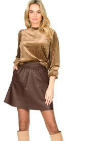 Second Female | Sweater with lurex Nancy | brown  | Picture 2