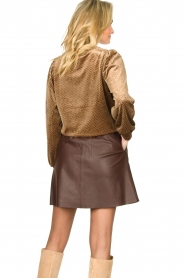 Second Female | Sweater with lurex Nancy | brown  | Picture 6