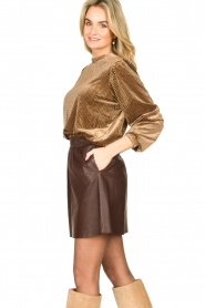 Second Female | Sweater with lurex Nancy | brown  | Picture 4