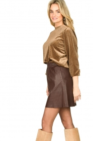 Second Female | Sweater with lurex Nancy | brown  | Picture 5
