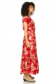 Lolly's Laundry |  Leaf print maxi skirt with lurex Bonny | red  | Picture 6