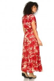 Lolly's Laundry |  Leaf print maxi skirt with lurex Bonny | red  | Picture 5