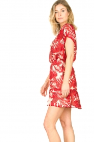 Lolly's Laundry |  Leaf print skirt with lurex Alexa | red  | Picture 7