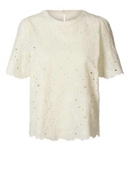 Lolly's Laundry |  Broderie top Cristina | white  | Picture 1