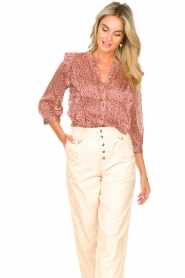 Lolly's Laundry | Blouse met ruches Hanni | roze  | Afbeelding 4