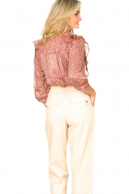 Lolly's Laundry | Blouse met ruches Hanni | roze  | Afbeelding 6