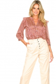 Lolly's Laundry | Blouse met ruches Hanni | roze  | Afbeelding 2