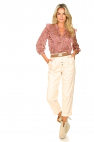 Lolly's Laundry | Blouse met ruches Hanni | roze  | Afbeelding 3