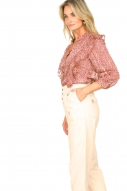 Lolly's Laundry | Blouse met ruches Hanni | roze  | Afbeelding 5