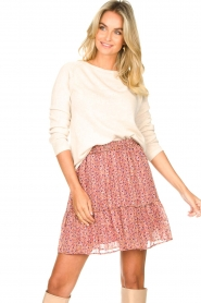 Lolly's Laundry |  Print skirt Alexa | pink  | Picture 2