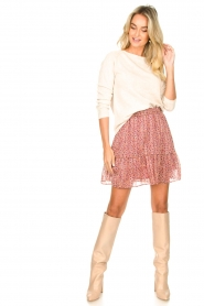 Lolly's Laundry |  Print skirt Alexa | pink  | Picture 3