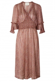 Lolly's Laundry |  Midi dress with ruffles Patricia | pink  | Picture 1