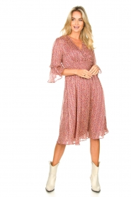 Lolly's Laundry |  Midi dress with ruffles Patricia | pink  | Picture 3