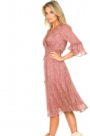 Lolly's Laundry |  Midi dress with ruffles Patricia | pink  | Picture 6