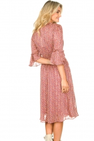 Lolly's Laundry |  Midi dress with ruffles Patricia | pink  | Picture 7