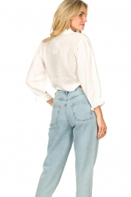 Lolly's Laundry |  Blouse with ruffles Huxi | white  | Picture 6
