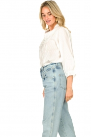 Lolly's Laundry |  Blouse with ruffles Huxi | white  | Picture 5