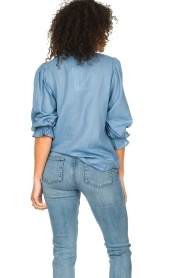 Lolly's Laundry |  Blouse with ruffles Huxi | blue  | Picture 6