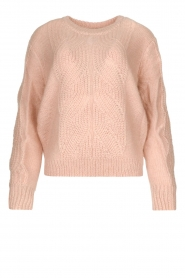 Les Favorites |  Knitted sweater Babs | pink  | Picture 1