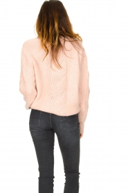 Les Favorites |  Knitted sweater Babs | pink  | Picture 7