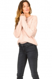 Les Favorites |  Knitted sweater Babs | pink  | Picture 4