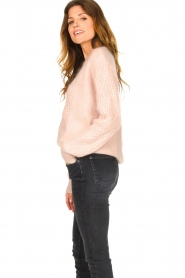 Les Favorites |  Knitted sweater Babs | pink  | Picture 6