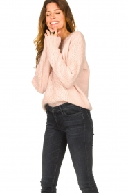 Les Favorites |  Knitted sweater Babs | pink  | Picture 2