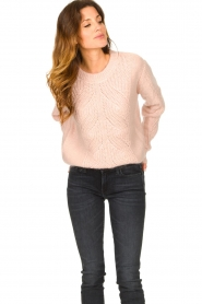 Les Favorites |  Knitted sweater Babs | pink  | Picture 5