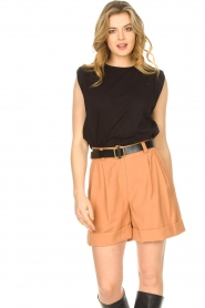 Lolly's Laundry |  Basic T-shirt Alex | black  | Picture 2
