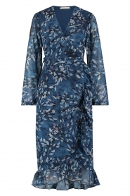 Freebird |  Midi dress with floral print Rosy | blue  | Picture 1