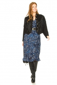 Freebird |  Midi dress with floral print Rosy | blue  | Picture 3