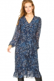 Freebird |  Midi dress with floral print Rosy | blue  | Picture 2