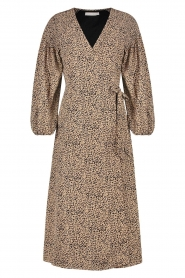 Freebird |  Maxi wrapped dress Odiela | brown  | Picture 1