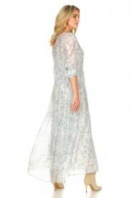 Lolly's Laundry |  Floral maxi dress Burton | blue  | Picture 6