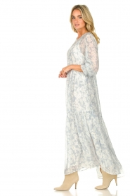 Lolly's Laundry |  Floral maxi dress Burton | blue  | Picture 5