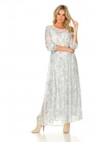 Lolly's Laundry |  Floral maxi dress Burton | blue  | Picture 4
