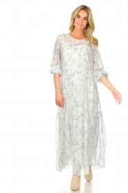 Lolly's Laundry |  Floral maxi dress Burton | blue  | Picture 3