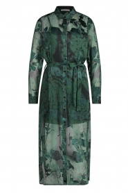 Freebird |  Maxi dress with leaf print Harper | green  | Picture 1