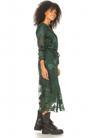 Freebird |  Maxi dress with leaf print Harper | green  | Picture 5