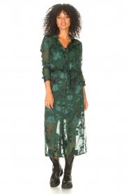 Freebird |  Maxi dress with leaf print Harper | green  | Picture 2