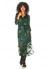 Freebird |  Maxi dress with leaf print Harper | green  | Picture 3