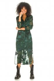 Freebird |  Maxi dress with leaf print Harper | green  | Picture 4