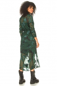 Freebird |  Maxi dress with leaf print Harper | green  | Picture 6