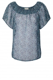 Lolly's Laundry | Gesmokte top Hector | blauw   | Afbeelding 1
