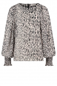 Freebird |  Top with leopard print Tisha | nude  | Picture 1