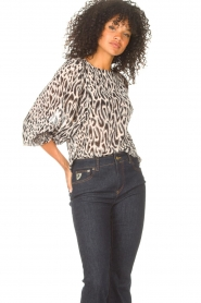Freebird |  Top with leopard print Tisha | nude  | Picture 5